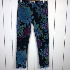 Nevada Floral Corduroy Pants Sz 28